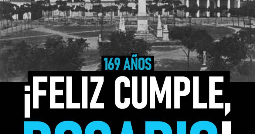 Rosario cumple 169 años como ciudad