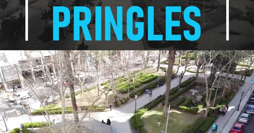 Plaza Pringles, una de las más transitadas de la ciudad